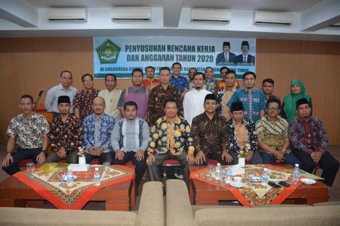 Kepala MIN 2 Tanjab Timur Ikuti Penyusunan Rencana Kerja Dan Anggaran Di Lingkungan Kemenag Tanjab Timur Tahun 2020