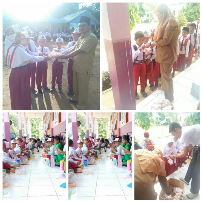 Pembagian Bantuan Telur Ayam dari Pt. Super Unggas Jaya yang di Distribusikan  Melalui Kemenag untuk Siswa-Siswi MIN 2 Tanjab Timur Berlangsung Tertib dan Lancar